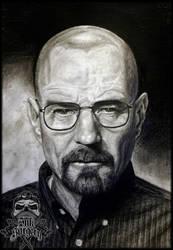 Breaking bad Walter White pencil portrait by inksurgeon