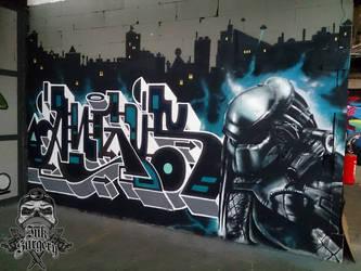Predator graffiti colab by inksurgeon
