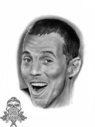 Steve O Jackass pencil portrait by inksurgeon