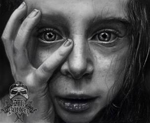 Lee Jeffries pencil portrait by inksurgeon