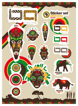 Africana Sticker set - bg 034