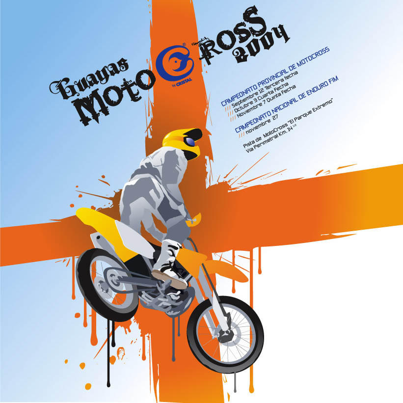 afiche motocroos by forkiu
