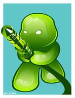 green jelly knight by forkiu