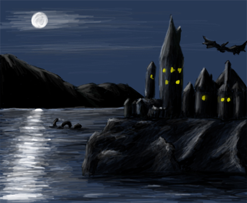Hogwarts by night by guad on deviantart - Hogwarts at night wallpaper ...