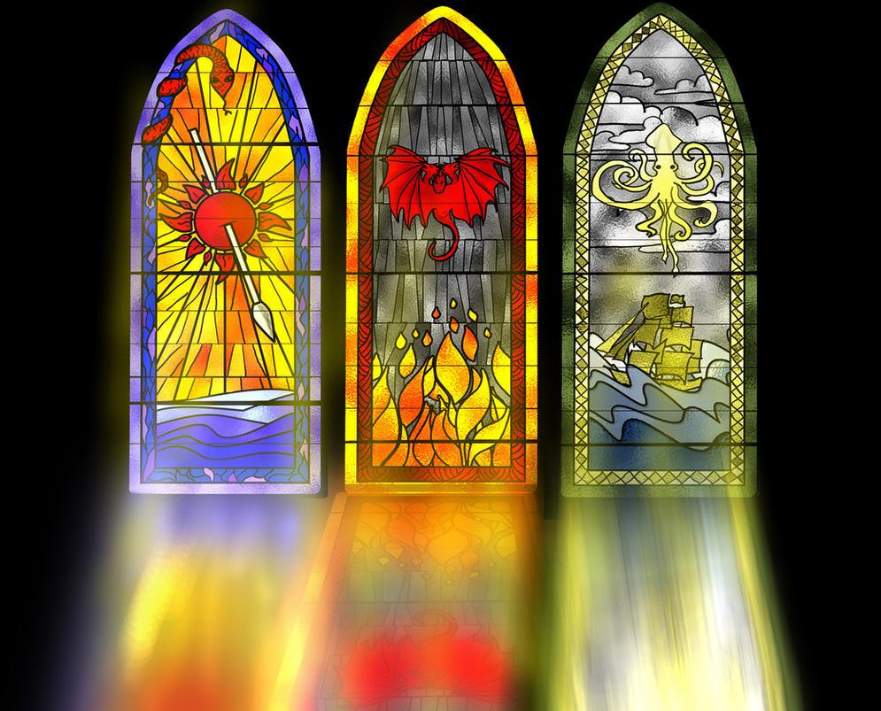 MartellTargaryenGreyjoy Window by guad