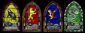 Hogwarts Houses windows