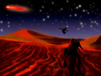 Dany follows the red comet by guad