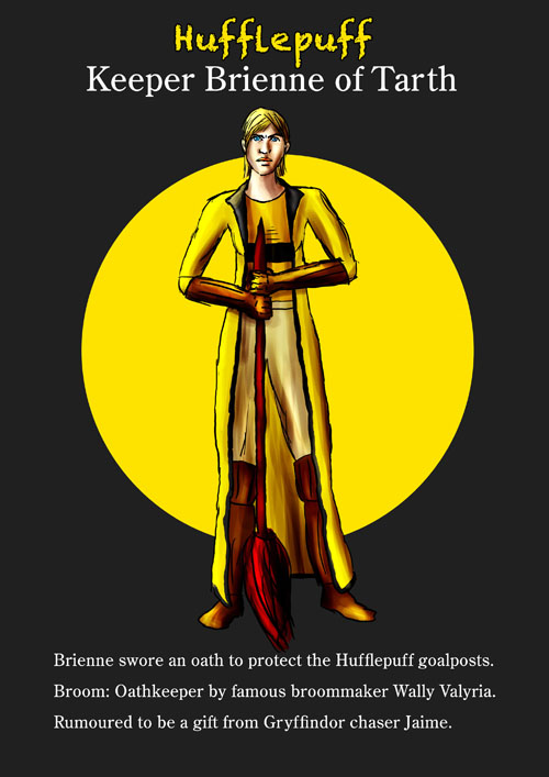 Brienne Hufflepuff Keeper by guad