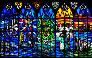 Davos Seaworth Stained Glass Window