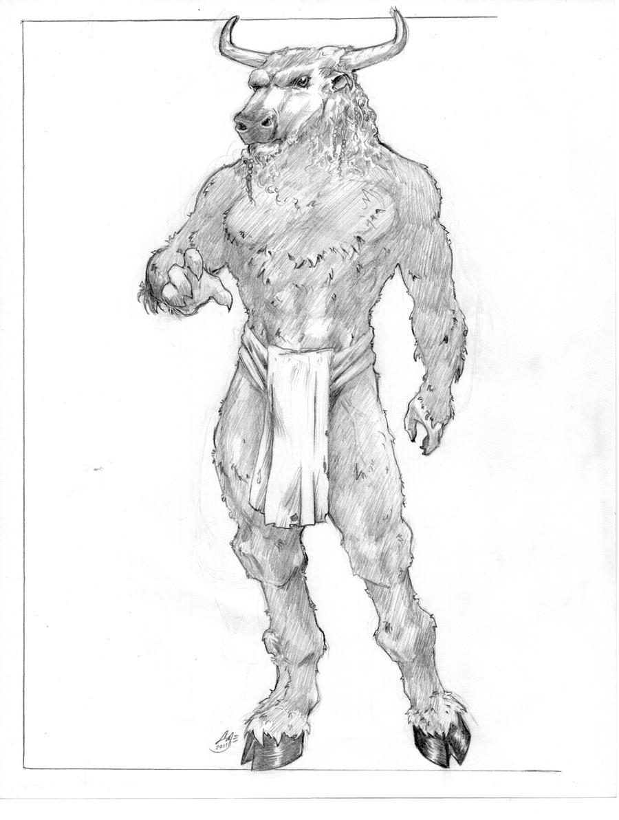 Minotaur male by itSMEneon