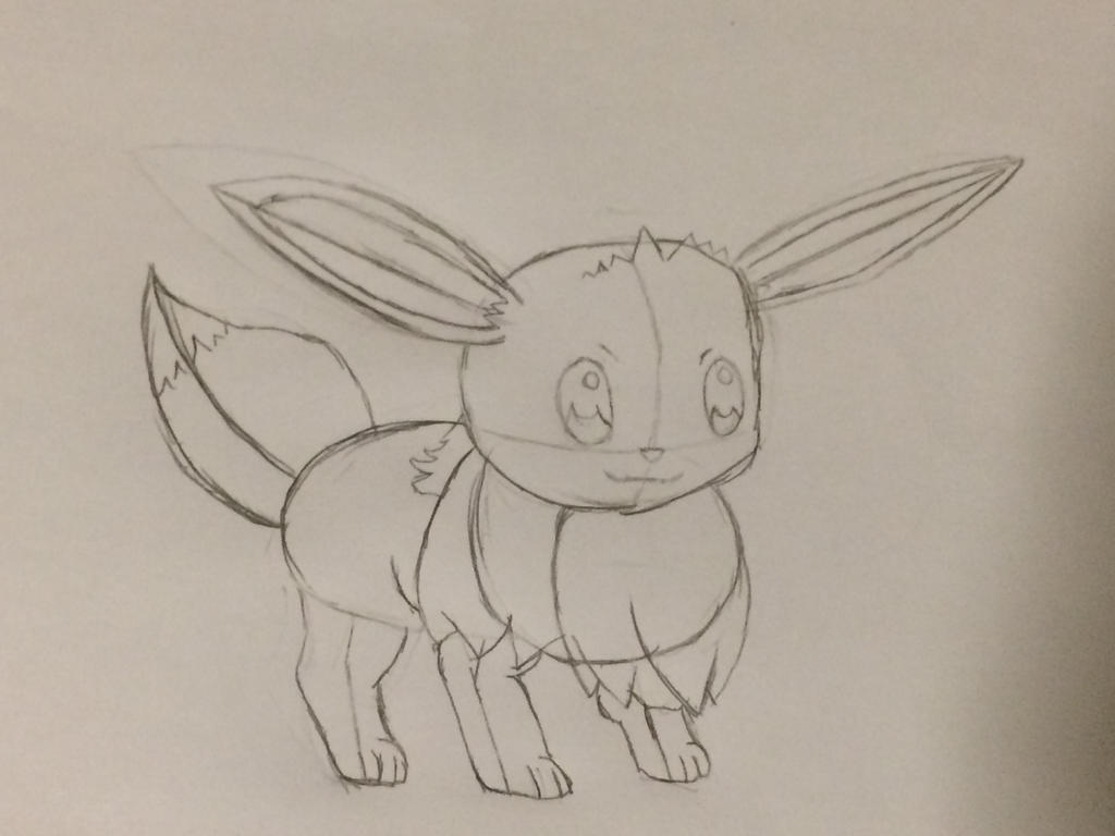 Trying to draw an eevee by LuckGamer254