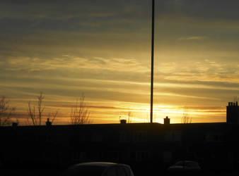 Sunset over Cregagh by Keresaspa