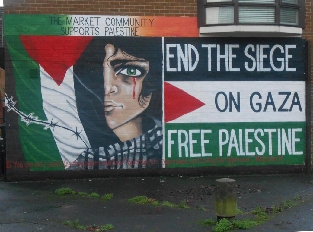 Palestine mural (Markets) by Keresaspa