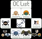 Current OC List - NaNoEmo Days 14-19 by Chibi-NinjaX3