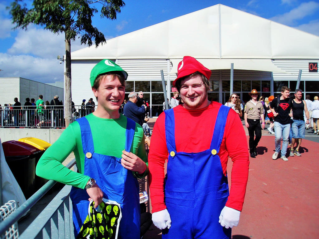 supanova mario brothers by masterwriter on supanova 2015 mario brothers by masterwriter