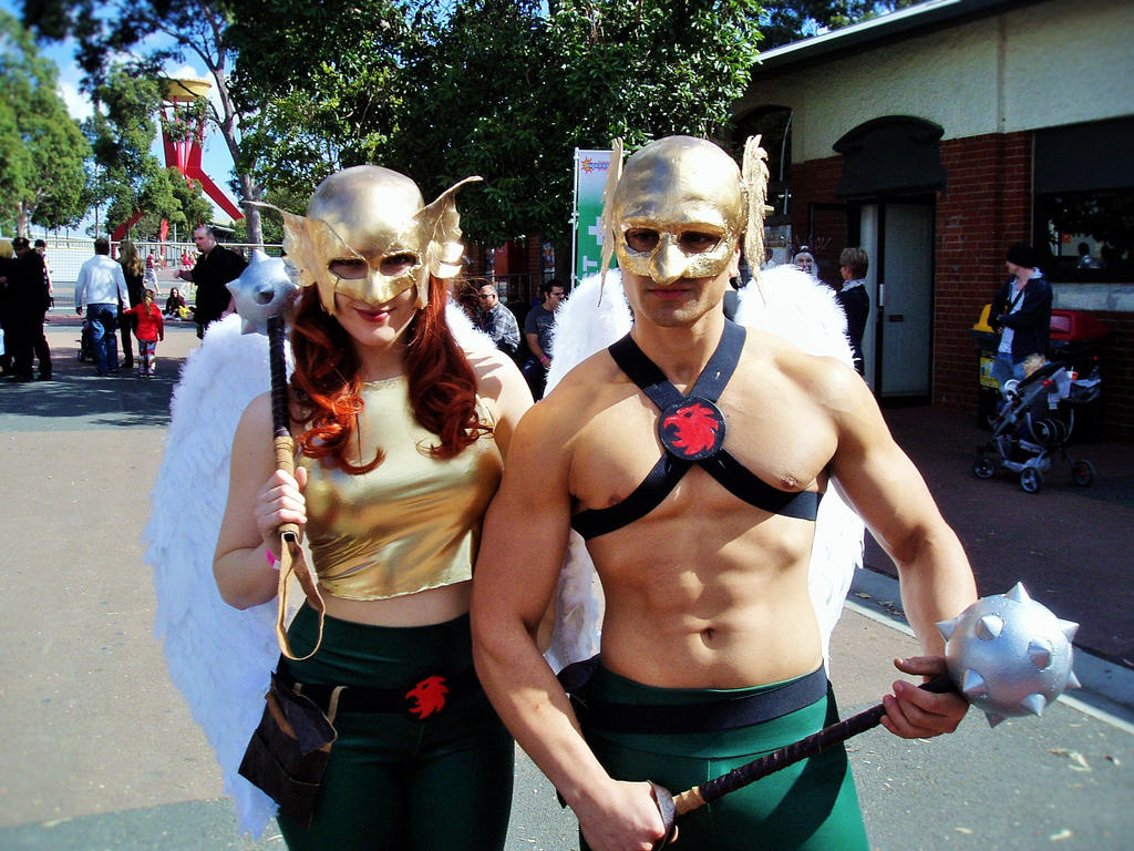 supanova hawk man and hawk girl by masterwriter on supanova 2015 hawk man and hawk girl by masterwriter