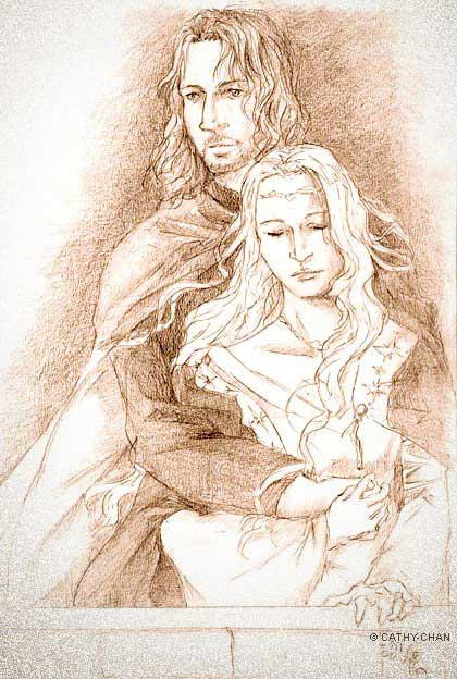 Faramir and Eowyn by c...