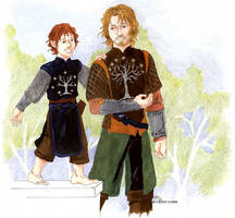 Faramir and Pippin by cathy-chan