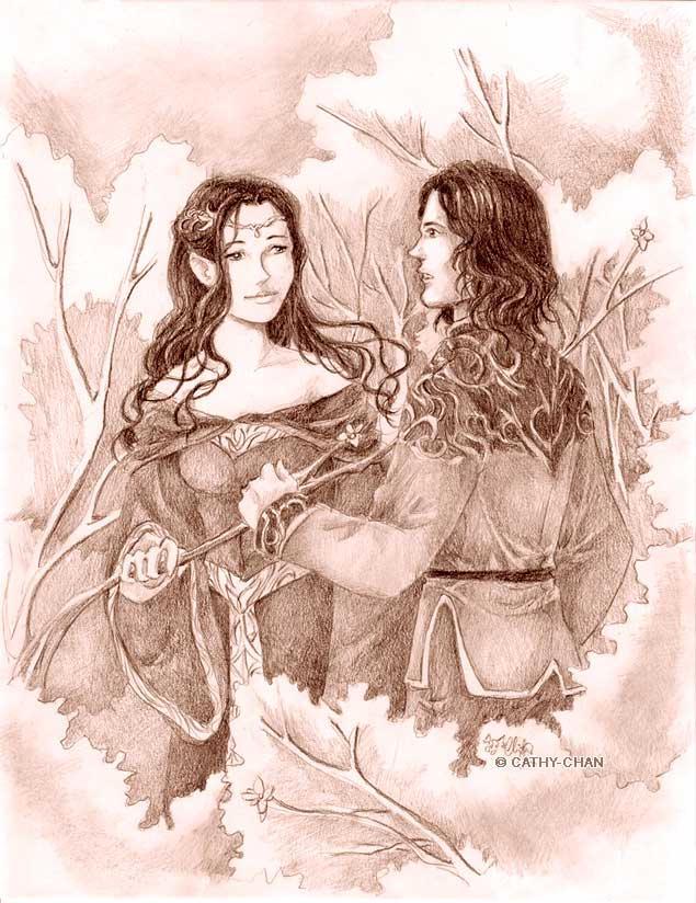 aragorn and arwen fan art