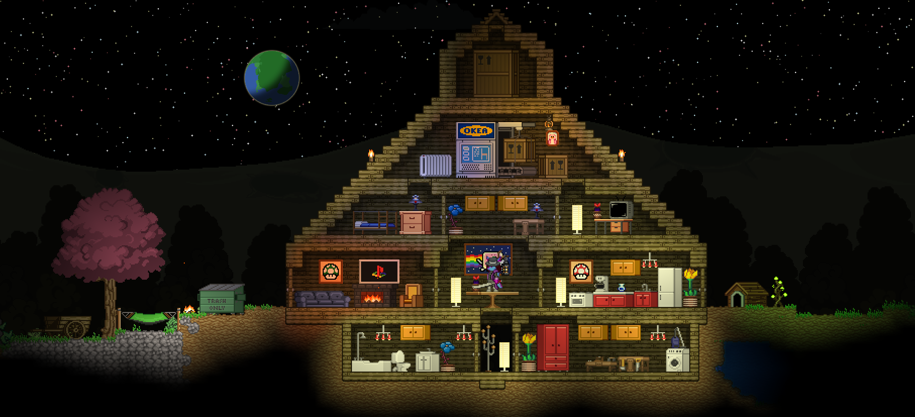 my starbound house by pawtendo on deviantart