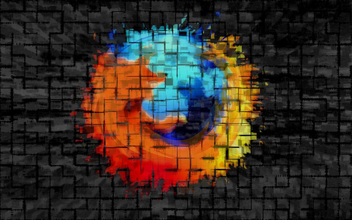 Firefox logo wallpaper