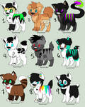 Adoptables - $2/200 points OPEN