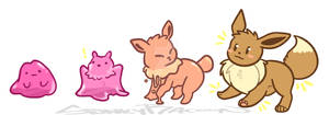 Ditto/Eevee transformation by SpunkyRacoon