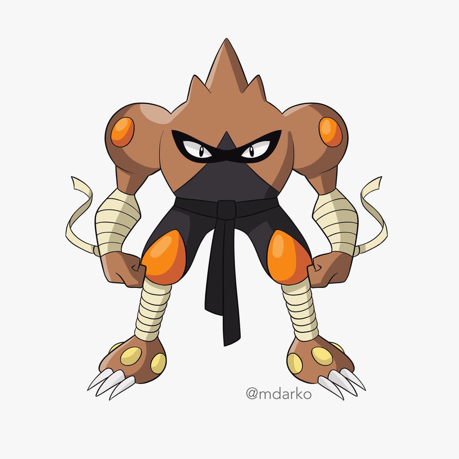 Mega Hitmonlee by artofmarco on DeviantArt