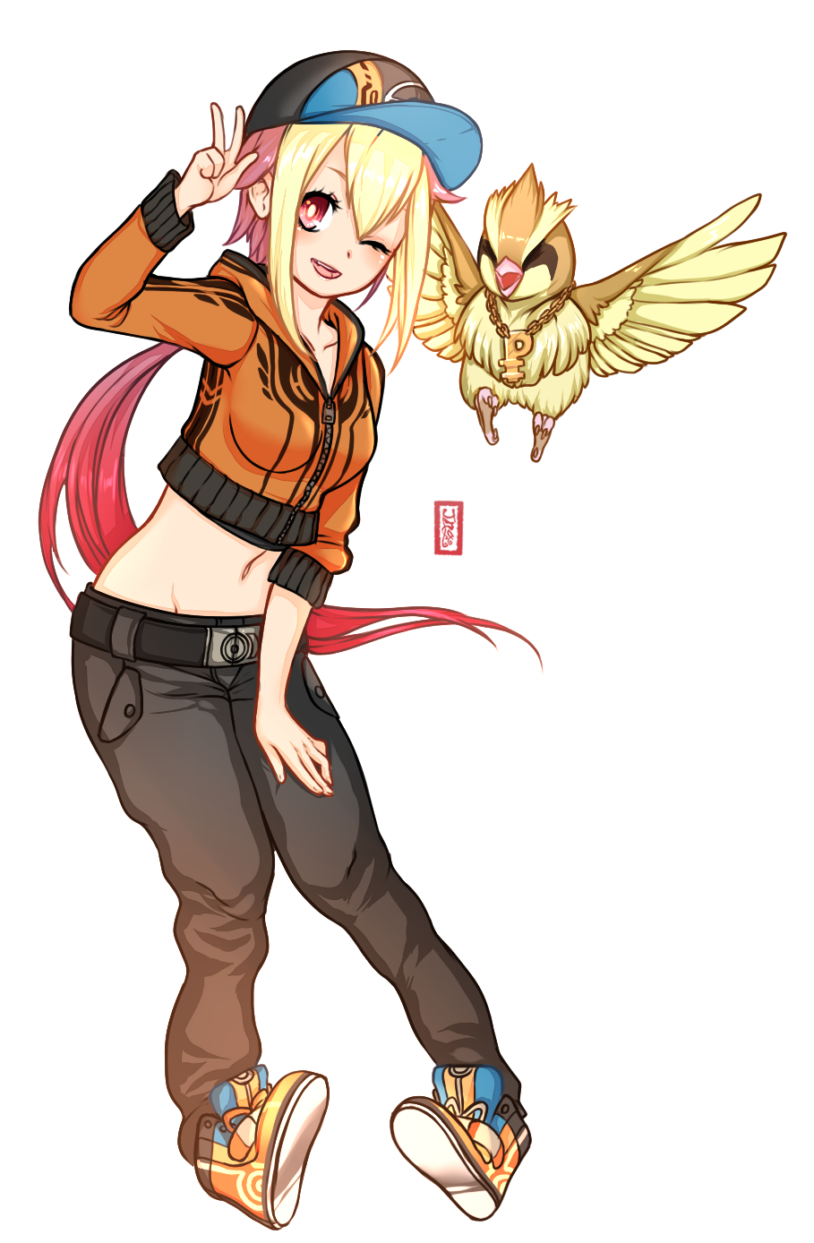 c custom pidgeot gijinka by azraetine on deviantart