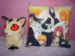 Kirara plush and Bleach pillow