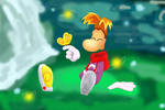 Rayman with a butterfly