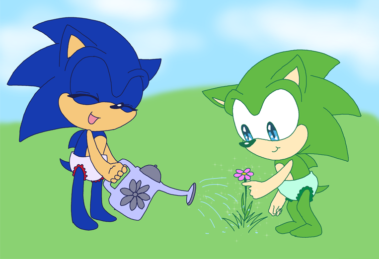 Baby Sonic And Scourge Request By Aishapachia On Deviantart