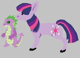 Twilight Sparkle And Spike by GDrKOOLAID