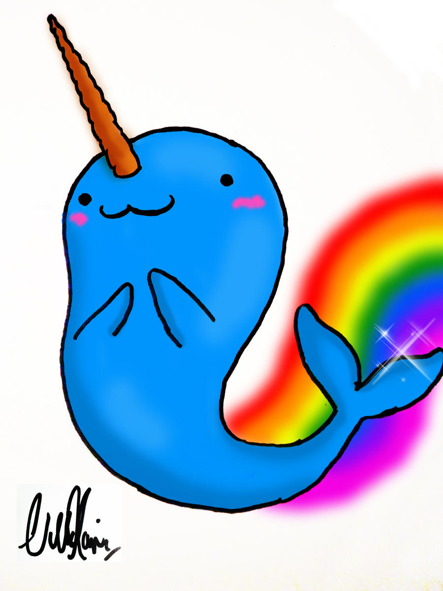 Rainbow Animated Narwhals Rainbow-narwhal by nil...