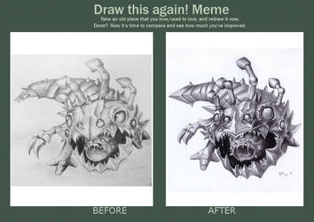 Draw this again: Kog'Maw by nillemarien