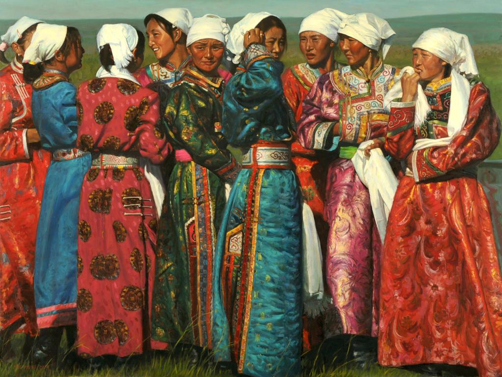 White Headscarves by MingYou-Xu