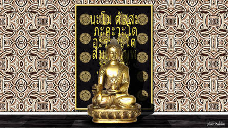 Golden_Buddha by mr-vizionz