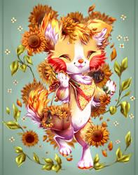Sunflowers around me by xY-a-z-z