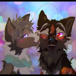 Kiss YCH for Squeeshly 2