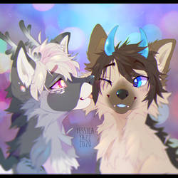 Kiss YCH for PupJoy1