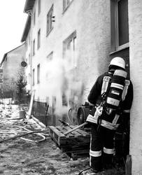 Fire Fighter Taking a Break by ek-ke