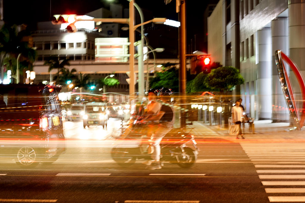 On the streets of Naha, Okinawa by nilfgaad