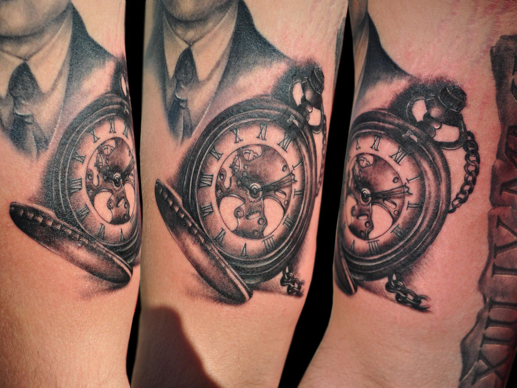 Clock tattoo by justTattoo on DeviantArt