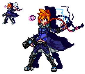 Azure Striker Gunvolt by WaterPixelArt