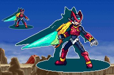 Zero - Mega Man Zero - [PixelArt] by WaterPixelArt