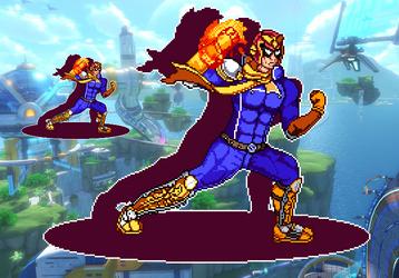Captain Falcon - Super Smash.. F-Zero - [PixelArt] by WaterPixelArt