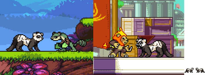 A real life Ferret in Rivals of Aether