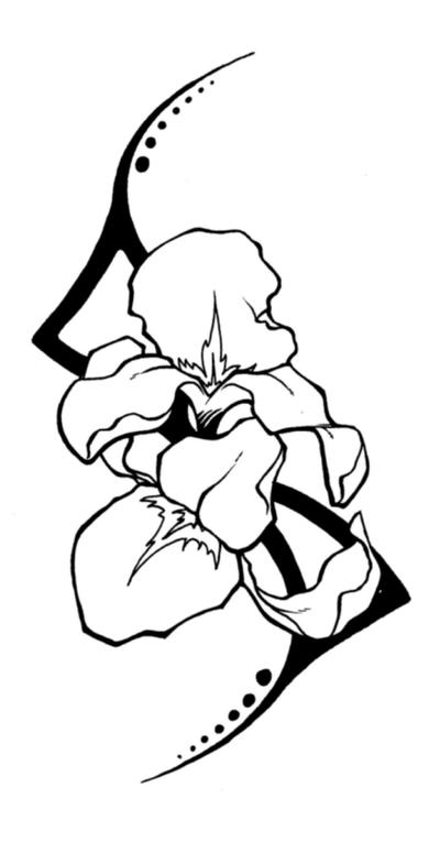 Iris Tattoo - shoulder tattoo