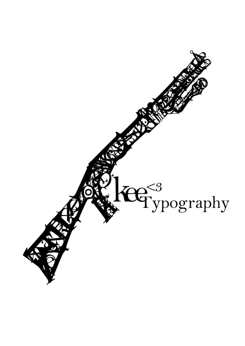 Shotgun Typography by Keeyou