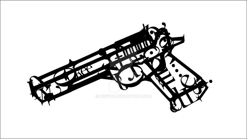 Typography Gun
